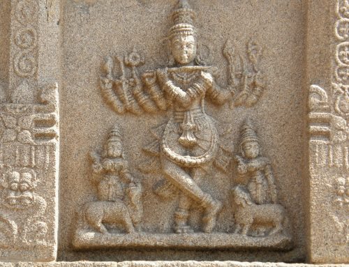Musical instruments in Hampi sculpture